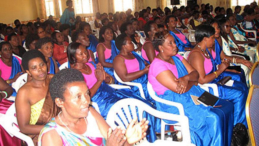 Women leaders at the meeting in Rwamagana. The New Times/S. Rwembeho