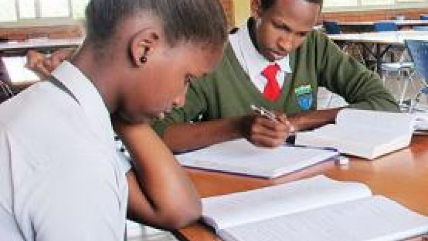 Students of Riviera High School in the library. The New Times/ Allan B. Ssenyonga.