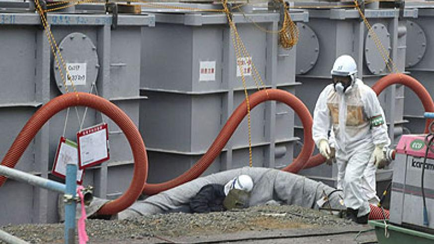 A radioactive substance, strontium-90, is present in the groundwater at Fukushima nuclear plant. Net photo.