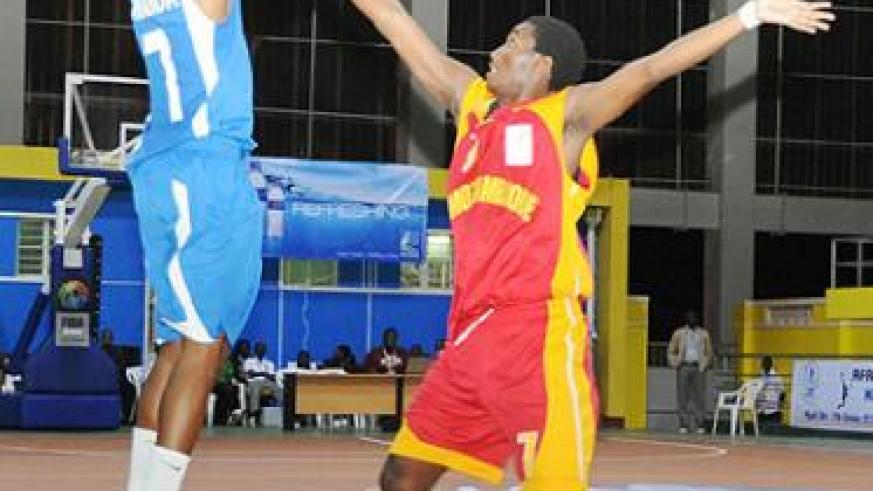 Lionnel Hakizimana seen here during a past competition. He has been summoned on the Afrobasket team which starts residential training next week. Saturday Times/ file.