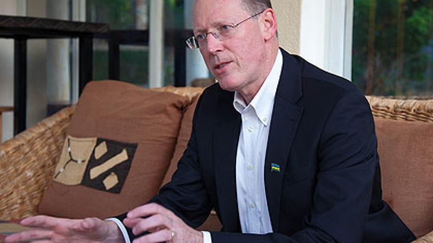 Dr Farmer during the interview in Kigali recently. The New Times/ Timothy Kisambira.