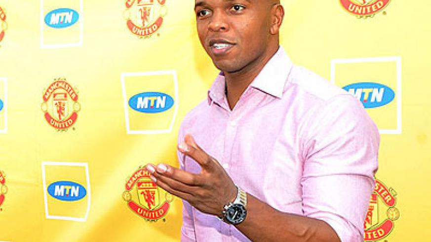 Quinton Fortune is visiting Rwanda to inspire upcoming yongsters to aim at playing professional football in future. The New Times/ Courtesy.