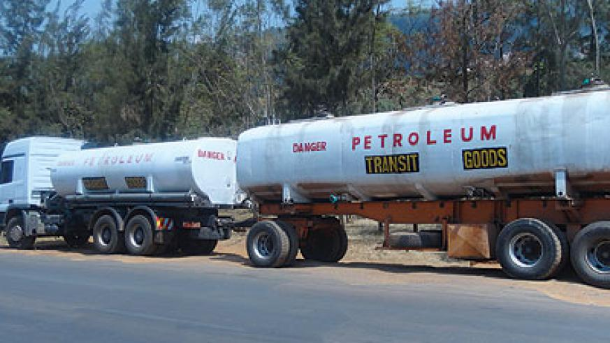 Oil tankers felling fuel for storage. The government is encouraging private dealers to expand their reserves to ensure sustainable supply. The New Times / Peterson Tumwebaze