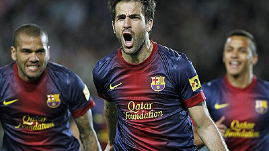 Heading back to England. United have offered Barcelona £26m for Fabregas.  Net photo.