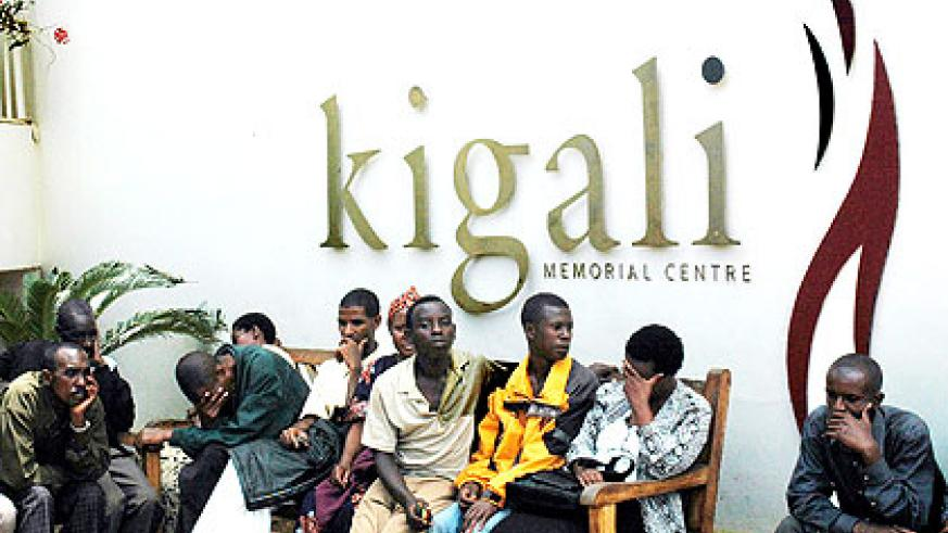 Survivors at Kigali Genocide Memorial Centre during a past commemoration event. The New Times/ File.