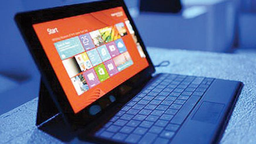 Sales of Microsoft's Surface tablet were disappointing in the second quarter. Net photo