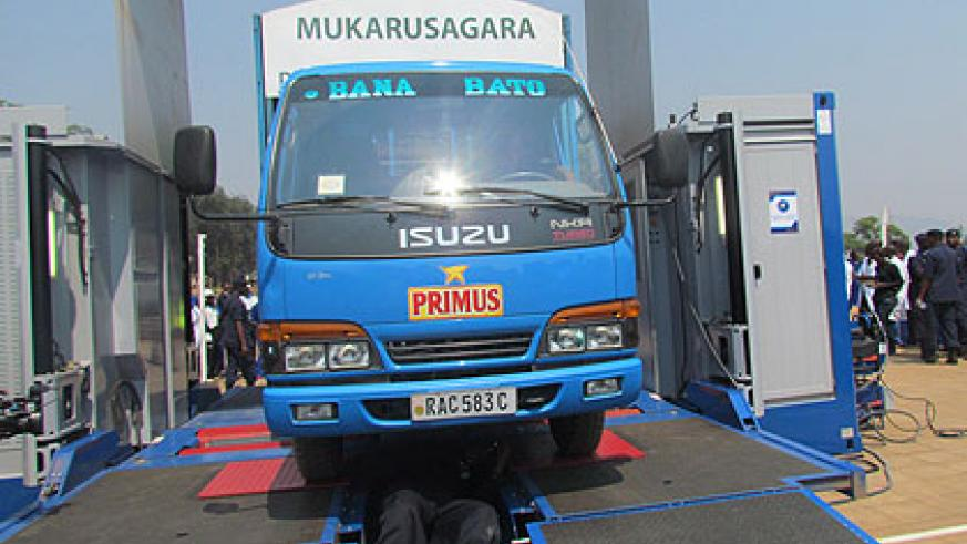 The unit will bring vehicle inspection services closer to motorists in rural areas.  Saturday Times/ Jean Pierre Bucyensenge