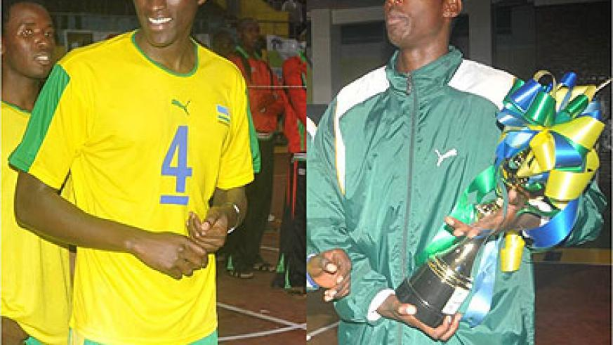 Christophe Mukunzi [L] and Flavien Ndamukunda seen in a past competition. They are part of the Rwanda men's team which will take part in the sub-zonal World Championship Qualifiers.  T....