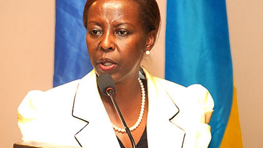 Louise Mushikiwabo,  Minister for Foreign Affairs.