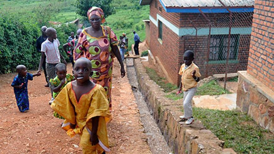 Some of the last children leave Mpore Pefa orphanage in May last year.  The New Times, File