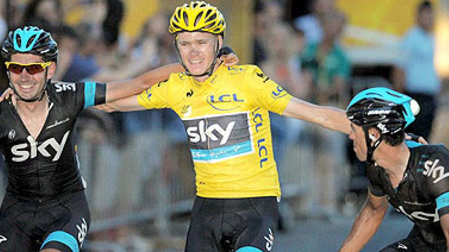 Chris Froome avoided incident to complete Tour de France victory. Net photo.