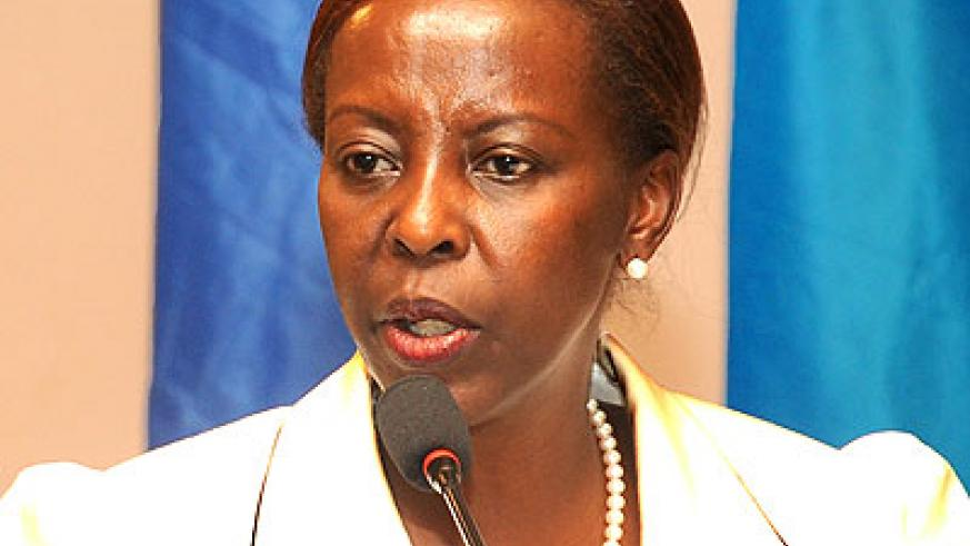 Foreign minister Louise Mushikiwabo was among the speakers at the UN Security Council Debate on the security situation in DRC yesterday. The New Times File.