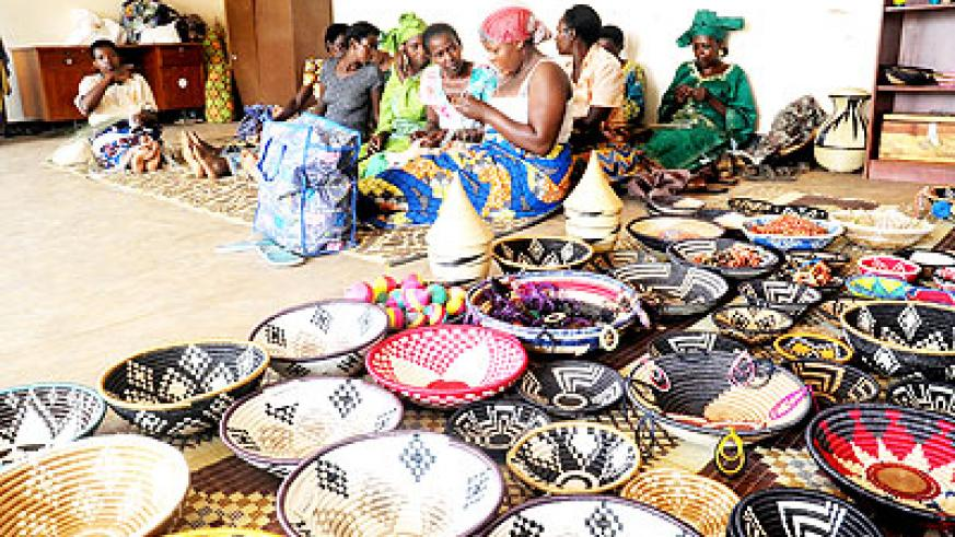 The UN donation will boost production in Agaseke and see more handcrafts exported. The New Times/ John Mbanda.