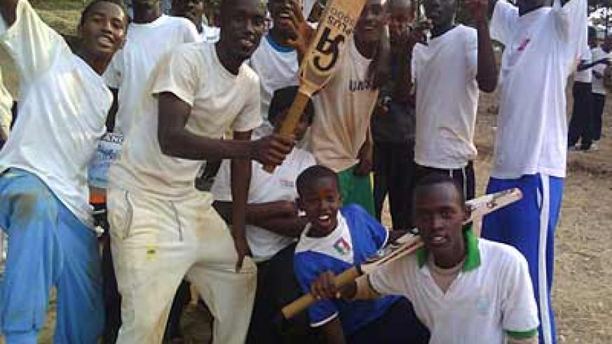 Defending champions Kagarama SS celebrate their opening two victories on day one. Times Sport / Courtesy.