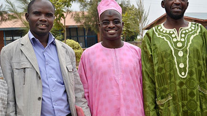 Sheikhs Hagumimana (L) and   Mudathir. The New Times/ Jean d'Amour Mbonyinshuti.