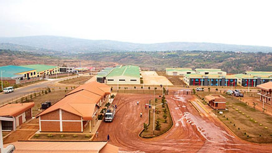 A view of some part of the Kigali Economic Zone that is complete. The New Times/ Timothy Kisambira.
