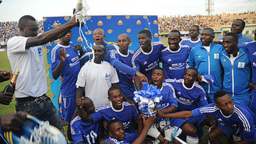 Rayon Sports celebrate last season's league title. Times Sport  / File.