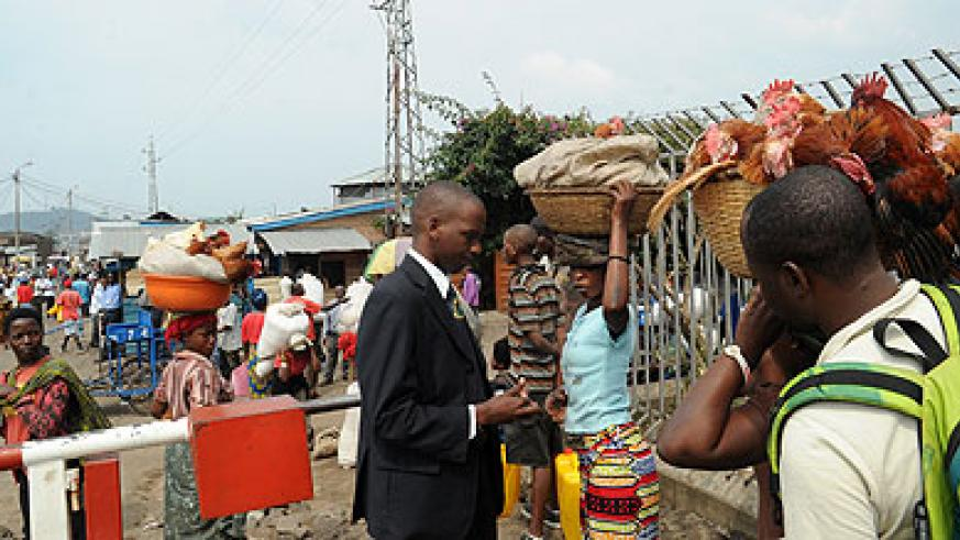 Informal trade at the Rubavu border post connecting Rwanda and DR Congo.  Several markets will be built to link Rwanda to neighbouring countries.  Saturday Times/ John Mbanda.