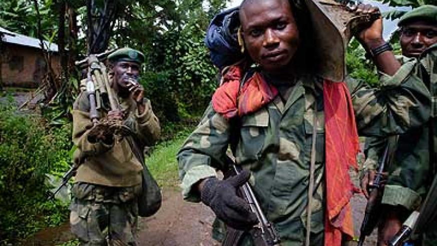 Eastern DRC is home to tens of militia groups, including FDLR terrorists blamed for the 1994 Genocide against the Tutsi. The New Times/File.