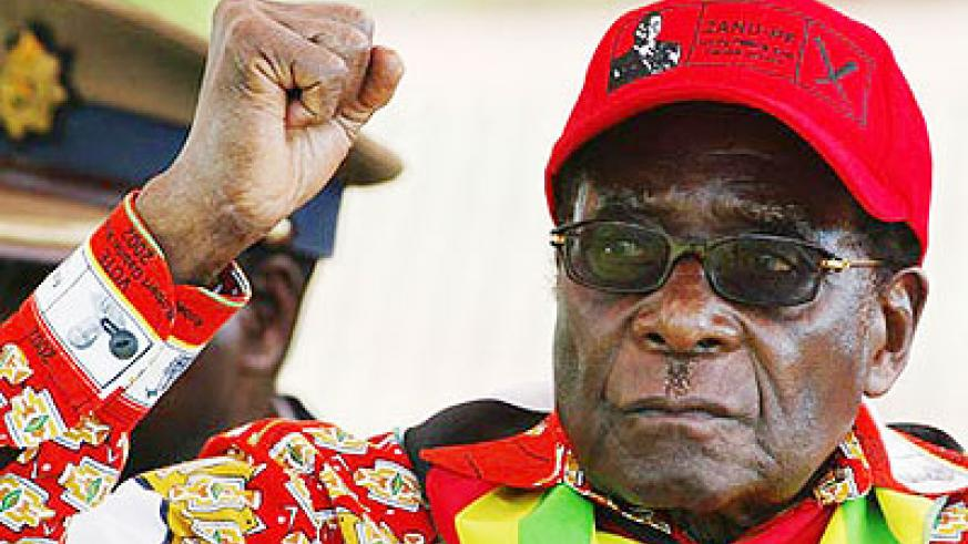 Robert Mugabe during the campaigns. Net photo.
