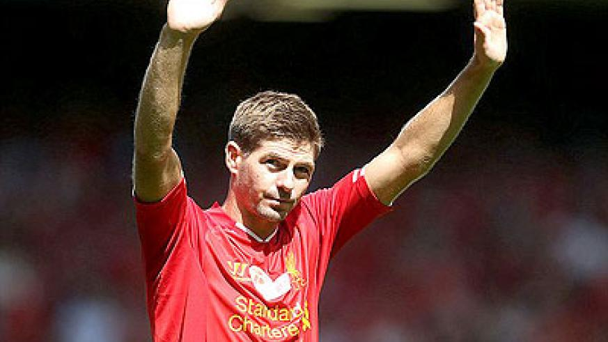 Gerrard lapped up Anfield's applause at his testimonial to highlight his fantastic service for the club.  Net photo