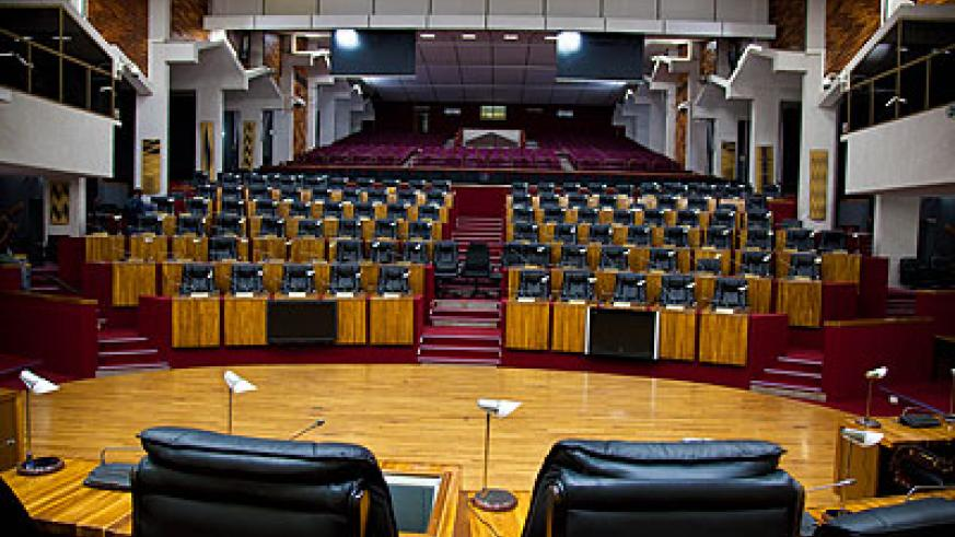 The Chamber of Deputies sits neat and silent in absence of Members of Parliament yesterday. The New Times/ Timothy Kisambira.