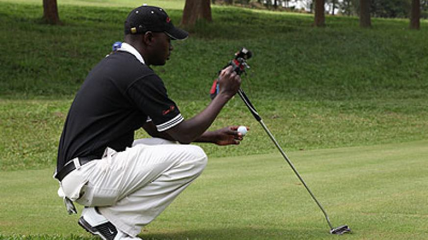 Emmanuel Ruterana seen here in a past Rwandan Open championship has his focus set on staging a good show in the Kenya Open. The New Times / File.
