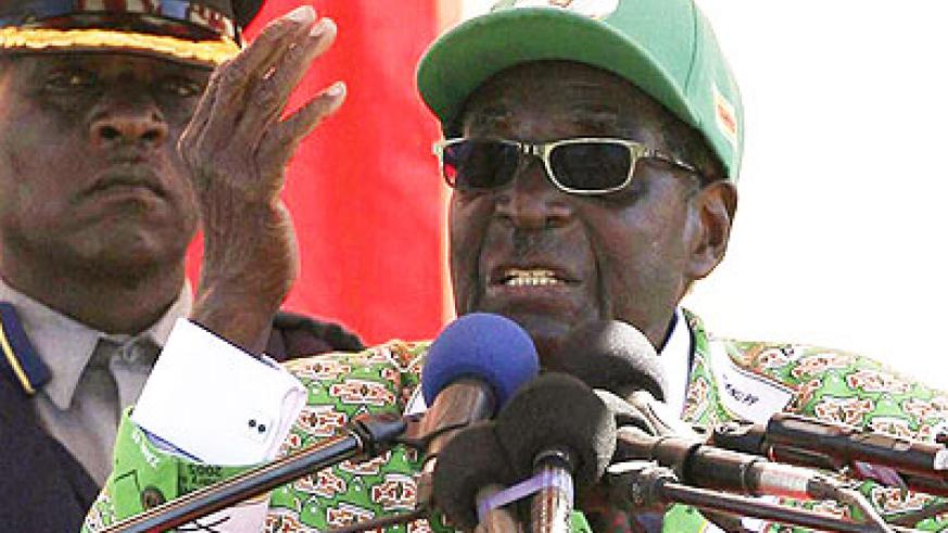 Mugabe told a meeting of ZANU-PF there would be no let-up in economic nationalism policies. Net photo.
