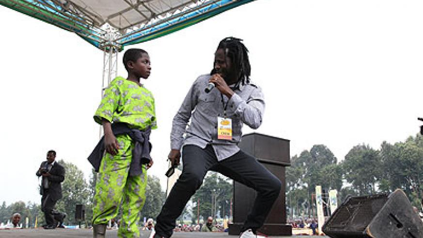 Bebe Cool during his recent performance in Rwanda. The New Times / File.