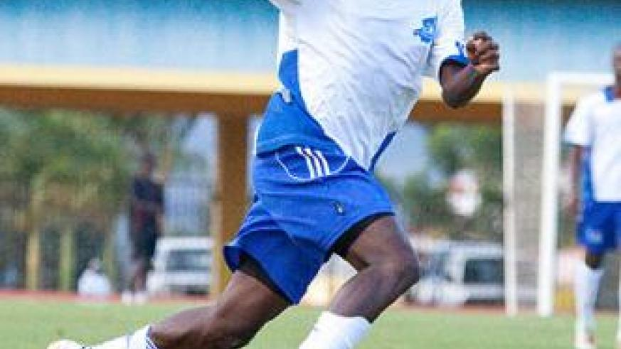 Rayon Sports have welcomed back midfielder Hussein Sibomana, but the team manager insists rebel striker Jérôme Sina (pictured) won't return to the club. Saturday Sport/File.