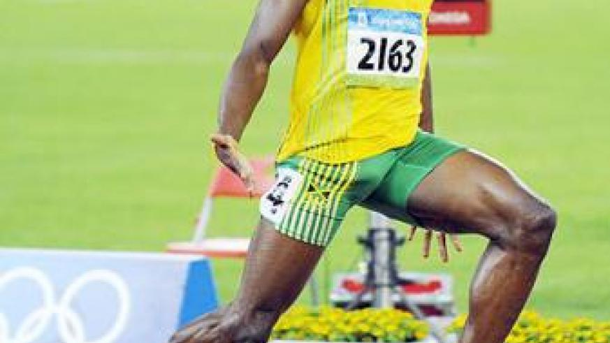 Usain Bolt is the favourite for the men's sprint titles. Net photo.