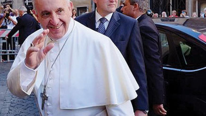 Pope Francis is set on clearing up the Vatican's finances. Net photo