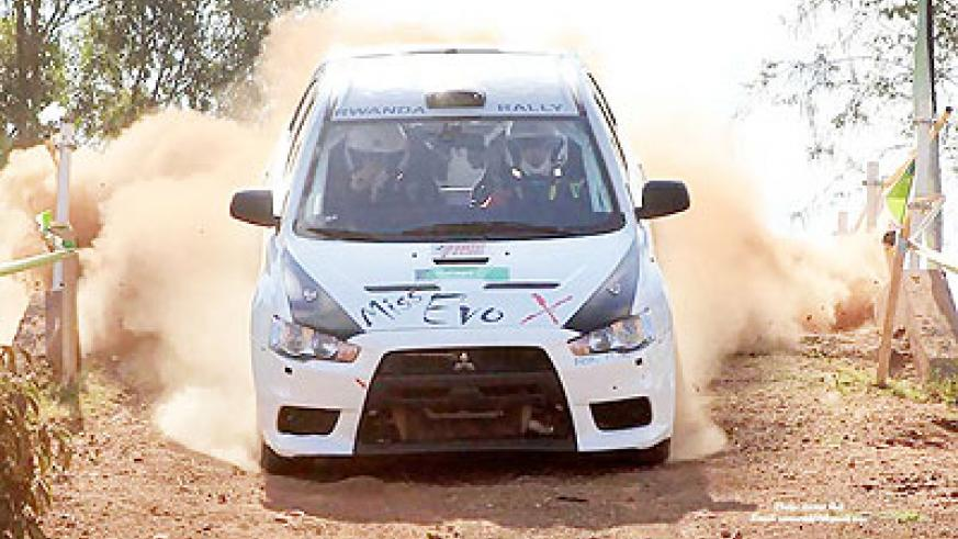 After crashing out of the Kenya Safari Rally last month, Giancarlo Davite, in his new Mitsubishi Evo 10, had bad luck again in Kampala on Saturday. Times Sport / Courtesy.