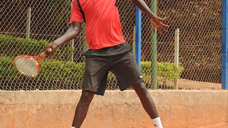 Top seed Jean-Claude Gasigwa is favourite to win the inaugural Nyarutarama Open tennis tournament. Times Sport / File.