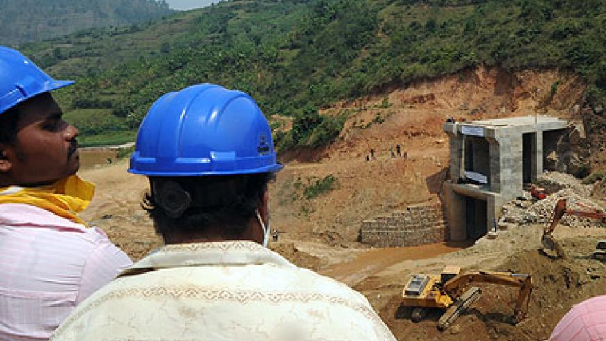 Nyabarongo Hydro Power Project in its first stages. EWSA estimates that the 563 MW target will require an investment capital equivalent to $1.8 billion over four years.  The New Times/ File.