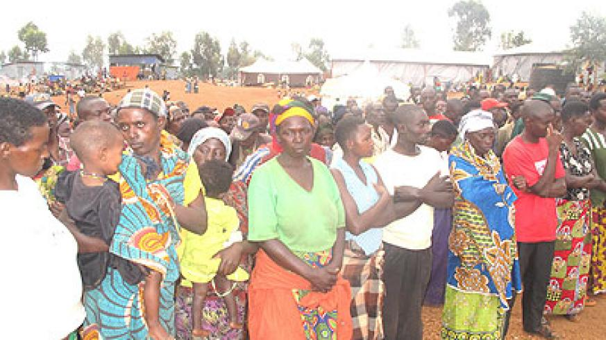 Some of the women who left their children in Tanzania.    The New Times/Stephen Rwembeho.