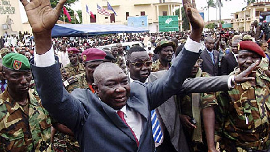 Michel Djotodia 's inauguration was dubbed as illigitimate by his opponents. Net photo.