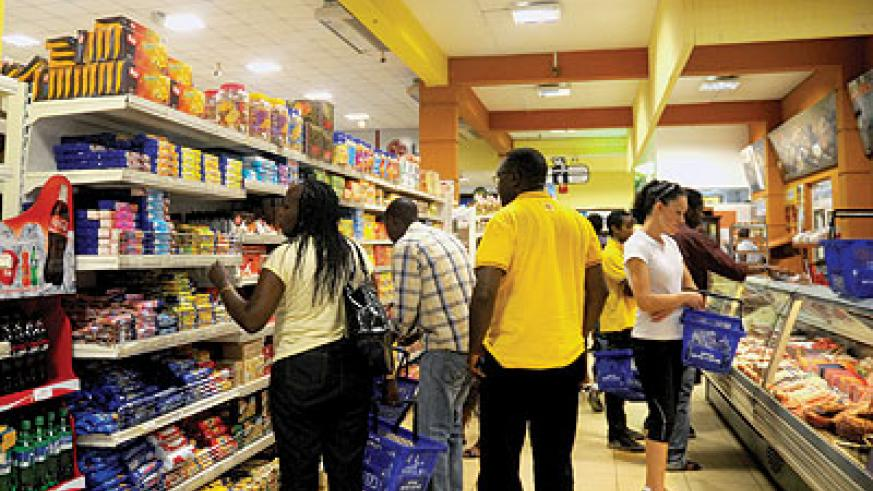 mVisa can be used by shoppers to pay for items bought. The New Times / File