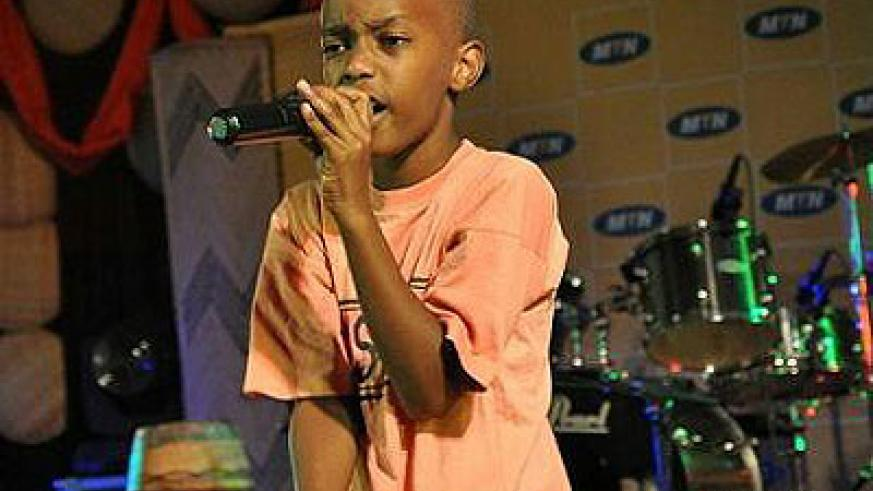 Born to be a rapper. Babu takes to the stage. The New Times / File.