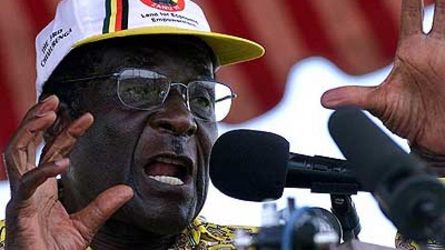 President Rober Mugabe during a past rally. Net photo.