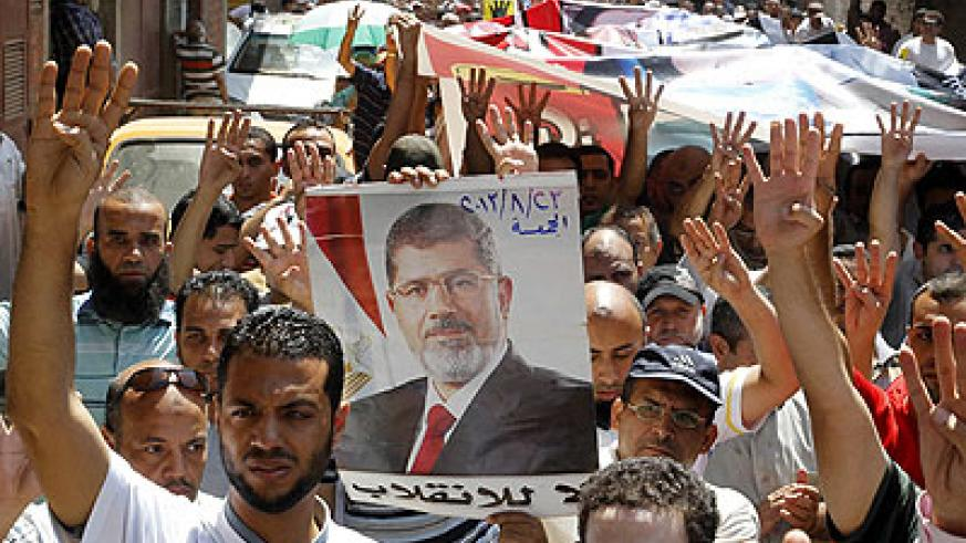 Supporters of Morsi released a statement which called on security forces to disobey orders 'to kill'. Net photo.