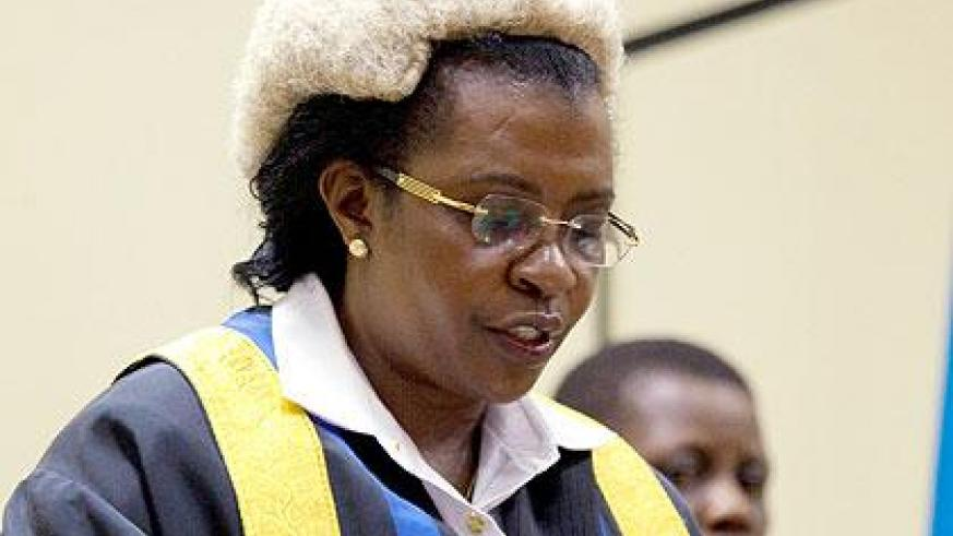 EALA Speaker Margaret Zziwa during a past session in Kigali. The Sunday Times/John Mbanda