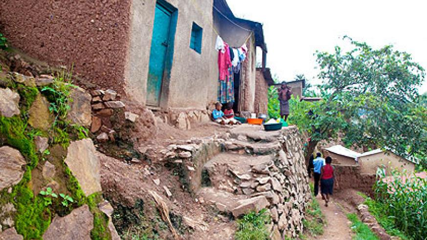 Slum dwellings at Gatsata. The government has outlined plans to root out all slums in the City of Kigali. The New Times/ T. Kisambira.