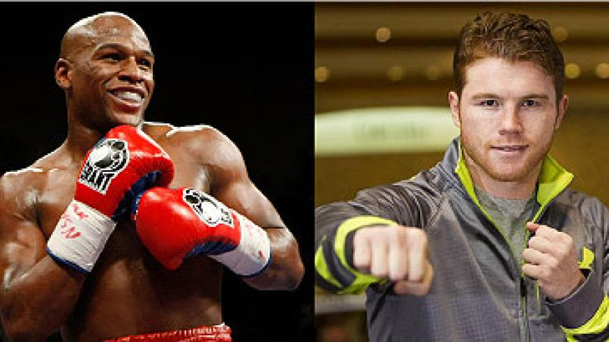 Flloyd Mayweather is unbeaten in 45 professional fights. Alvarez's purse has not been disclosed yet, but sources involved in the event say it is more than $10 million. Net photo