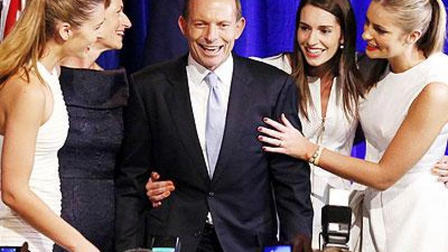 The conservative leader promised to deliver a 'trustworthy, competent' government in his victory speech. Net photo.