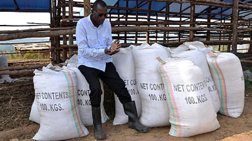 RICH HARVEST: Rubagumya at his grains' store in Matimba, Nyagatare District. The New Times / Peterson Tumwebaze