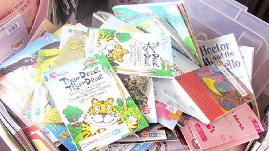 Some of the books donated by International Book Bank. The New Times/ Susan Babijja.