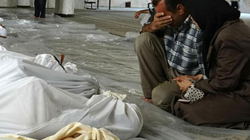 The US says the Syrian regime killed 1,400 people in a poison-gas attack in eastern Damascus on August 21. Net photo.