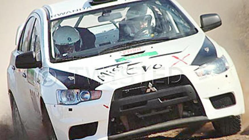National champion Giancarlo Davite in his Miss Evo X.  He is expected to fly Rwanda's flag high. The New Times / Courtesy.
