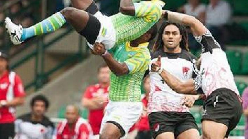Silverbacks in action against a Fujian side at this year's Hong Kong 7s tournament. Times Sport / Courtsey.